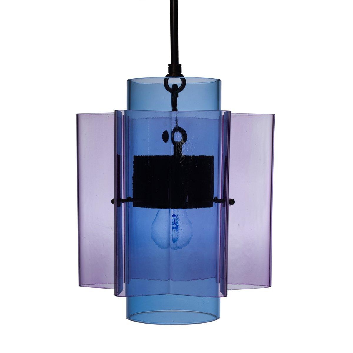 Petrona star shaped pendant light in purple and blue mouthblown petrona star shaped pendant light in purple and blue mouthblown glass by fredjuul aloadofball Choice Image