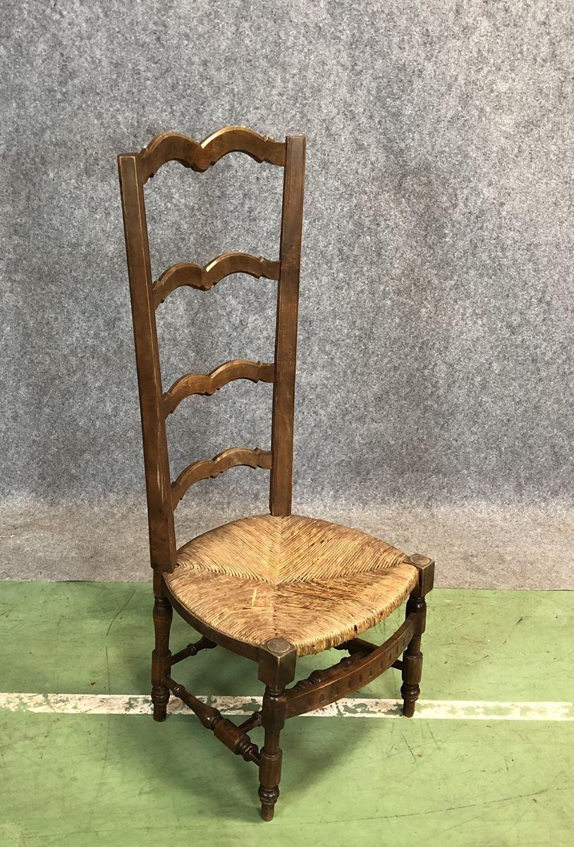 stuhl mit hoher r ckenlehne aus 19 jh bei pamono kaufen. Black Bedroom Furniture Sets. Home Design Ideas