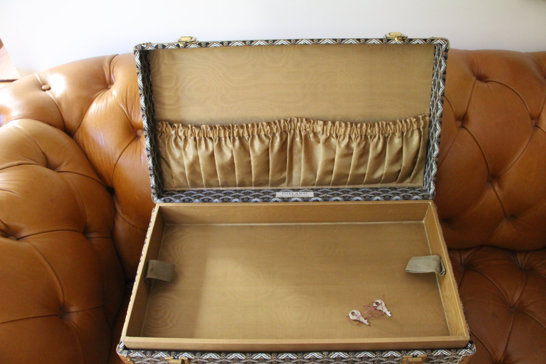 French Jewelry Case from Goyard 1960s for sale at Pamono