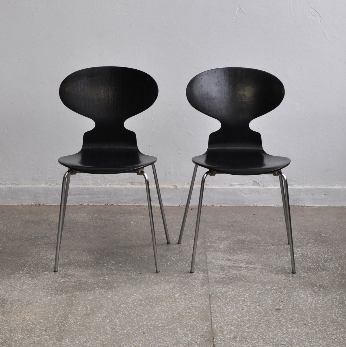 vintage modell 3100 ant st hle von arne jacobsen f r fitz. Black Bedroom Furniture Sets. Home Design Ideas