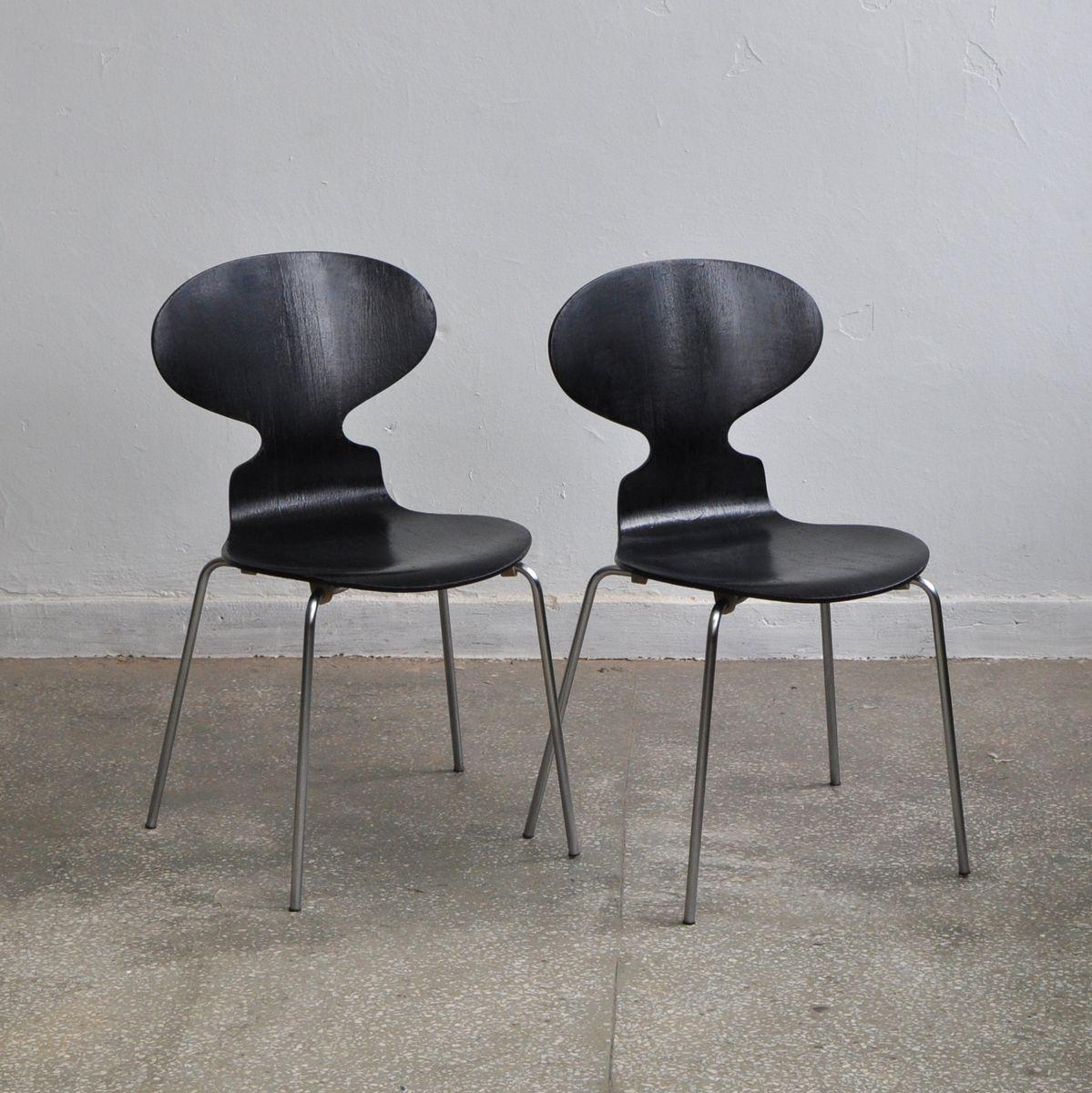 vintage modell 3100 ant st hle von arne jacobsen f r fitz. Black Bedroom Furniture Sets. Home Design Ideas