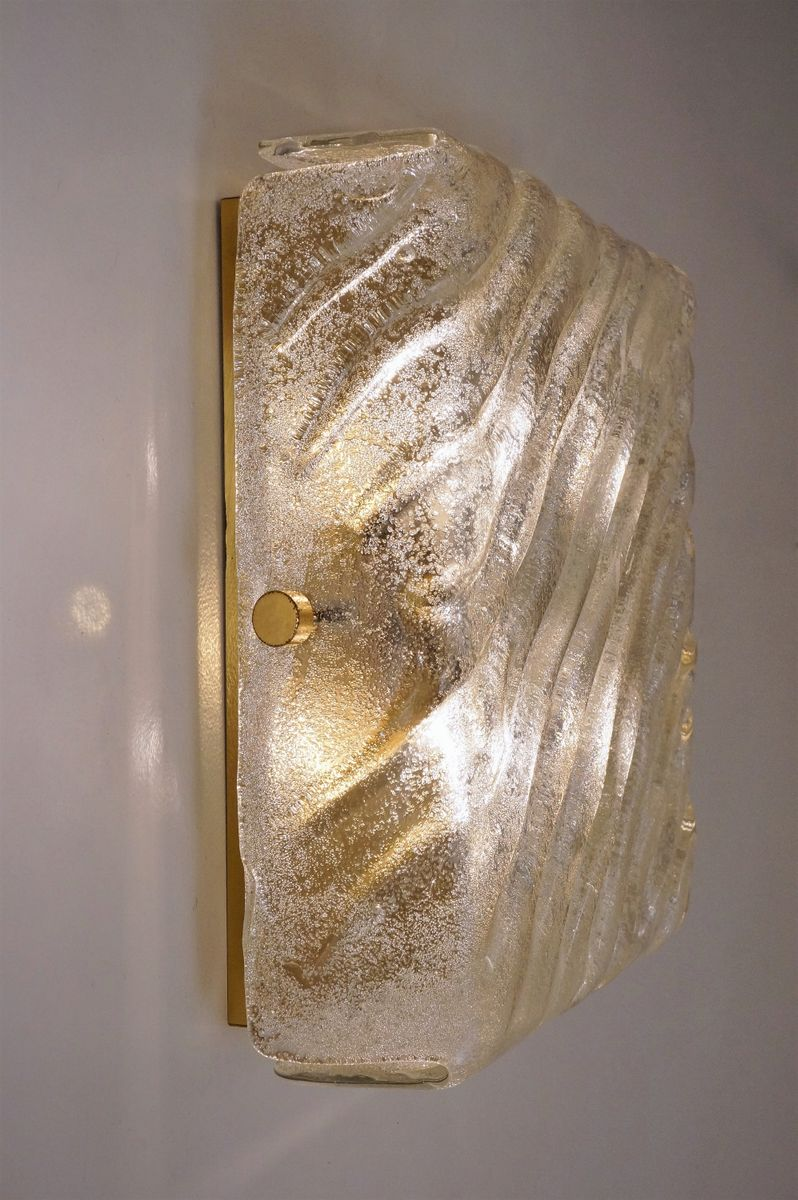 Würfelförmige Wandlampe aus Messing& Glas von Hillebrand Lighting, 1970er bei Pamono kaufen