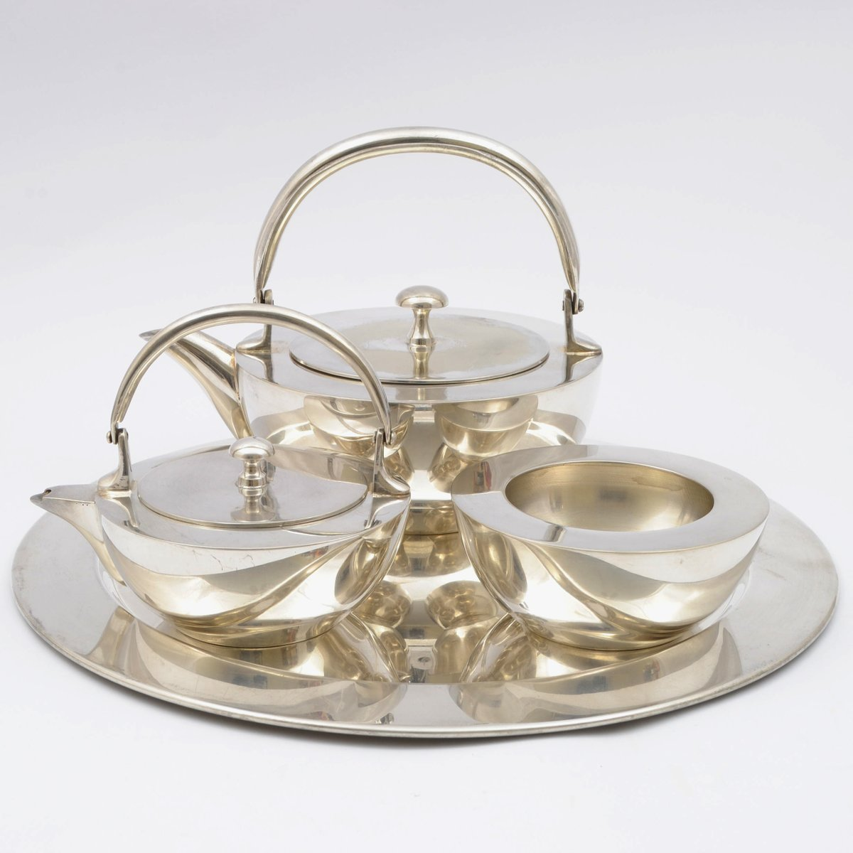 Functionalist Silver Plated Tea Set 1930s  sc 1 st  Pamono & Functionalist Silver Plated Tea Set 1930s for sale at Pamono
