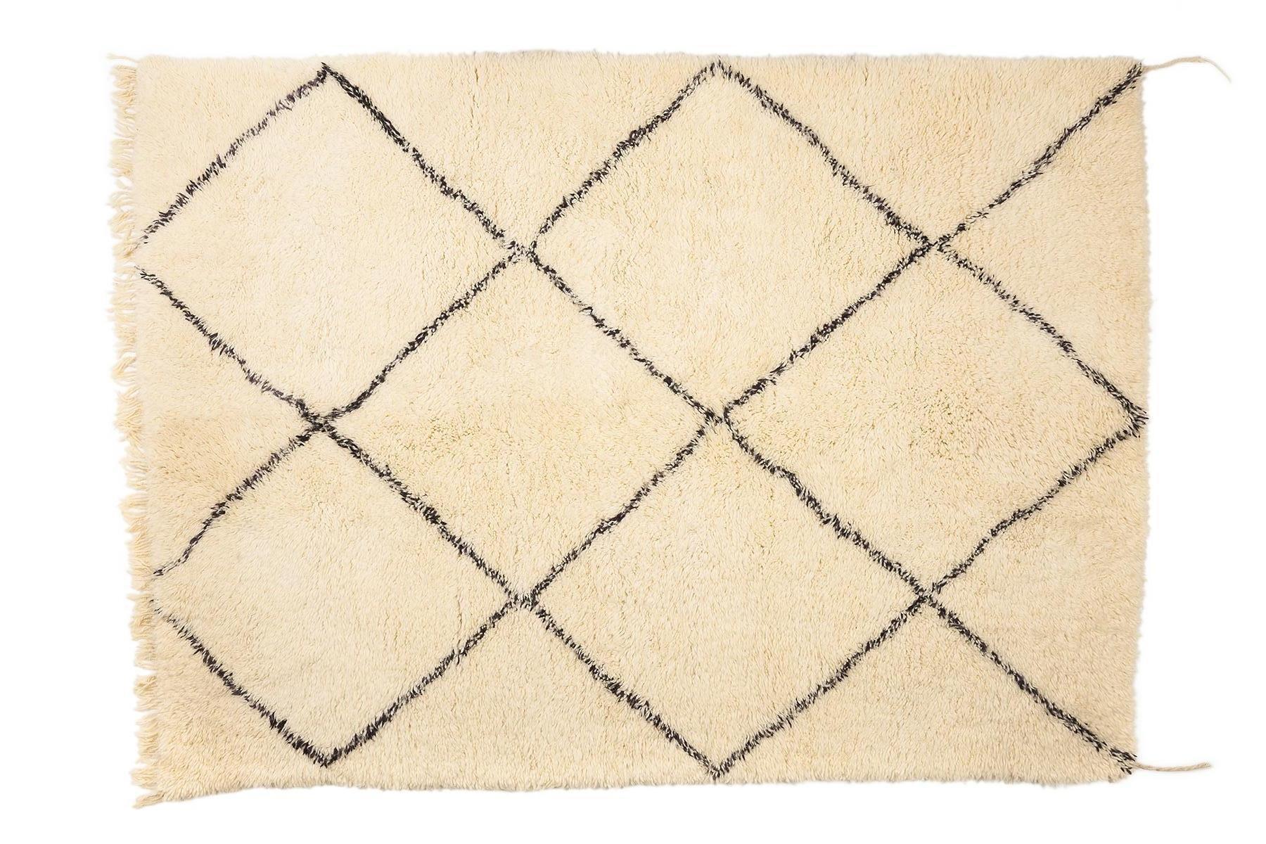 zeitgen ssischer marokkanischer berber teppich von beni. Black Bedroom Furniture Sets. Home Design Ideas