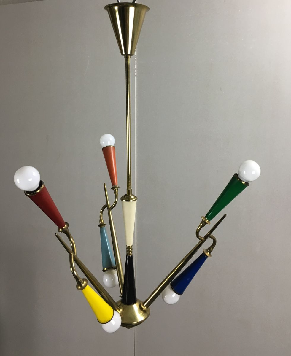 Mid century sputnik multicolored chandelier for sale at pamono arubaitofo Image collections