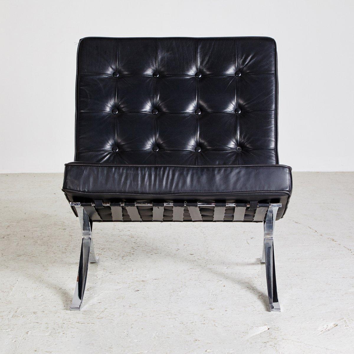 schwarzer leder sessel bei pamono kaufen. Black Bedroom Furniture Sets. Home Design Ideas