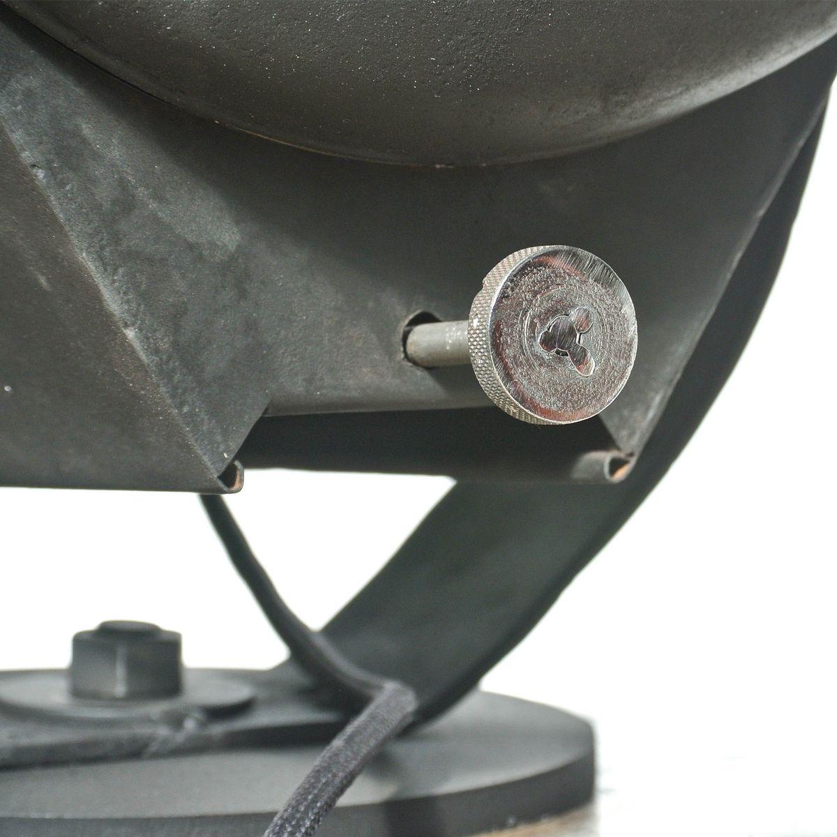 Schwarze industrielle vintage lampe 1950er bei pamono kaufen - Lampe vintage industrielle ...