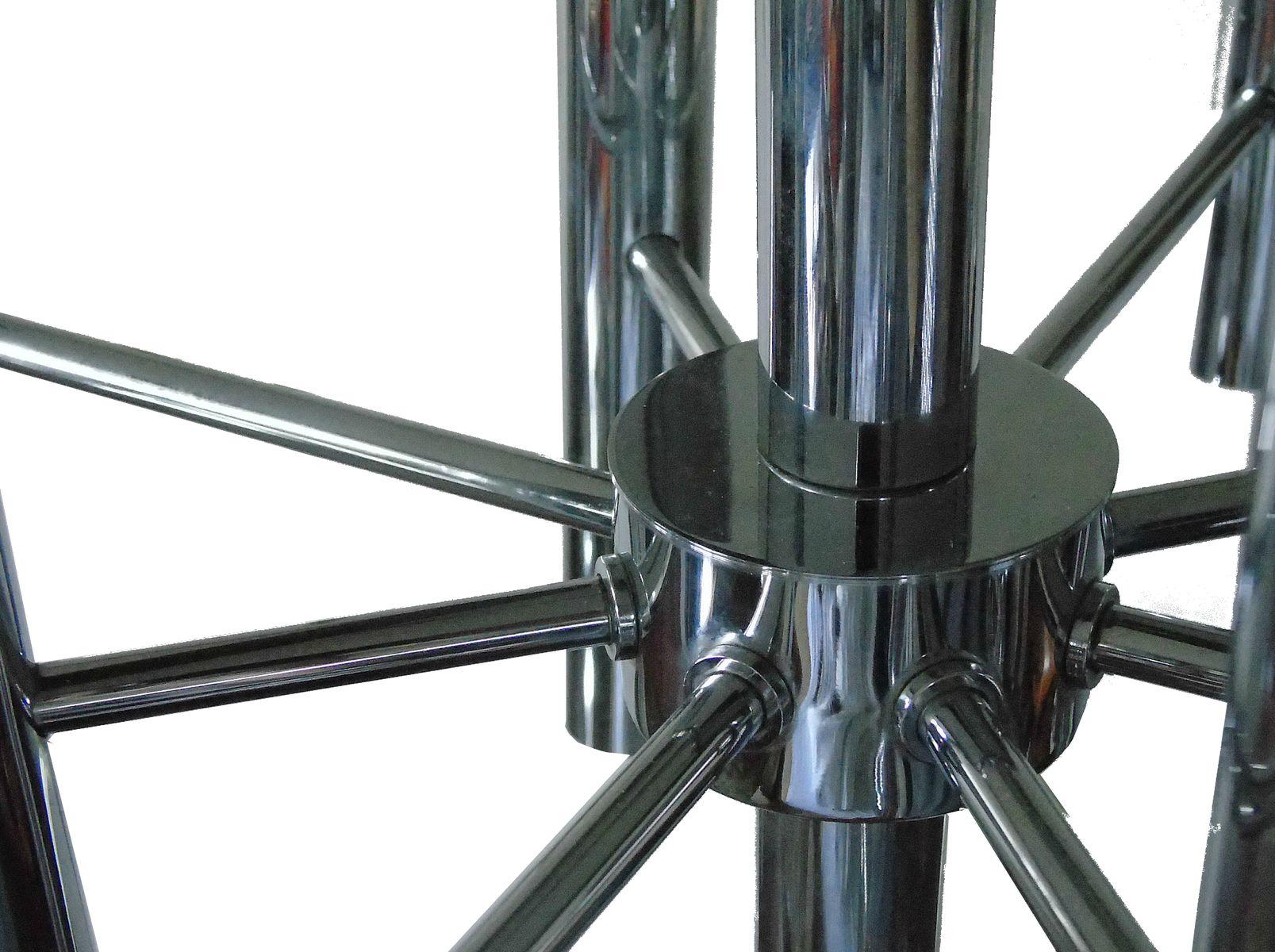 Chromed steel chandelier by gaetano sciolari for boulanger 1970s price per piece arubaitofo Gallery