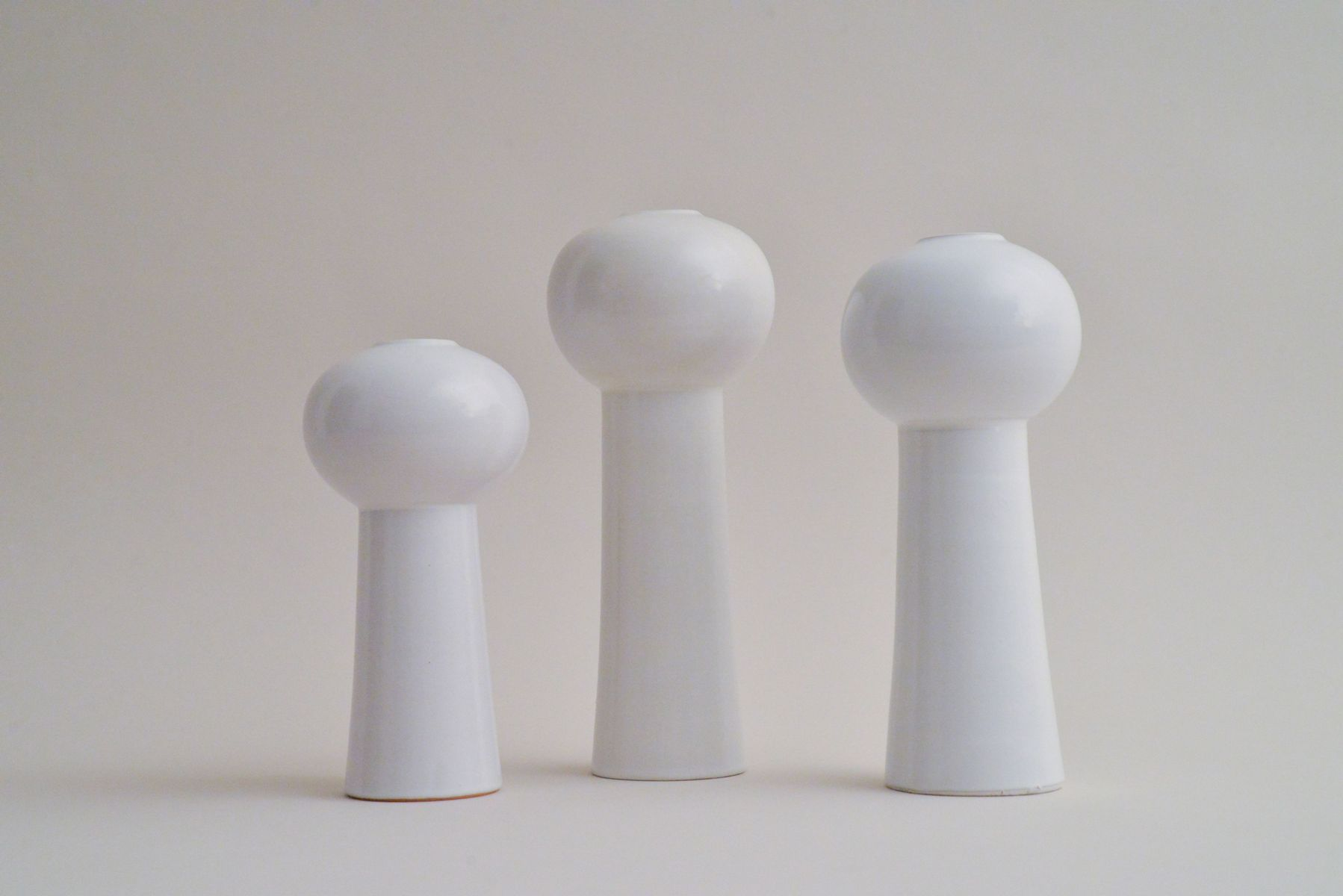 interesting white ceramic vases. Price per set Space Age White Ceramic Vases  Set of 3 for sale at Pamono