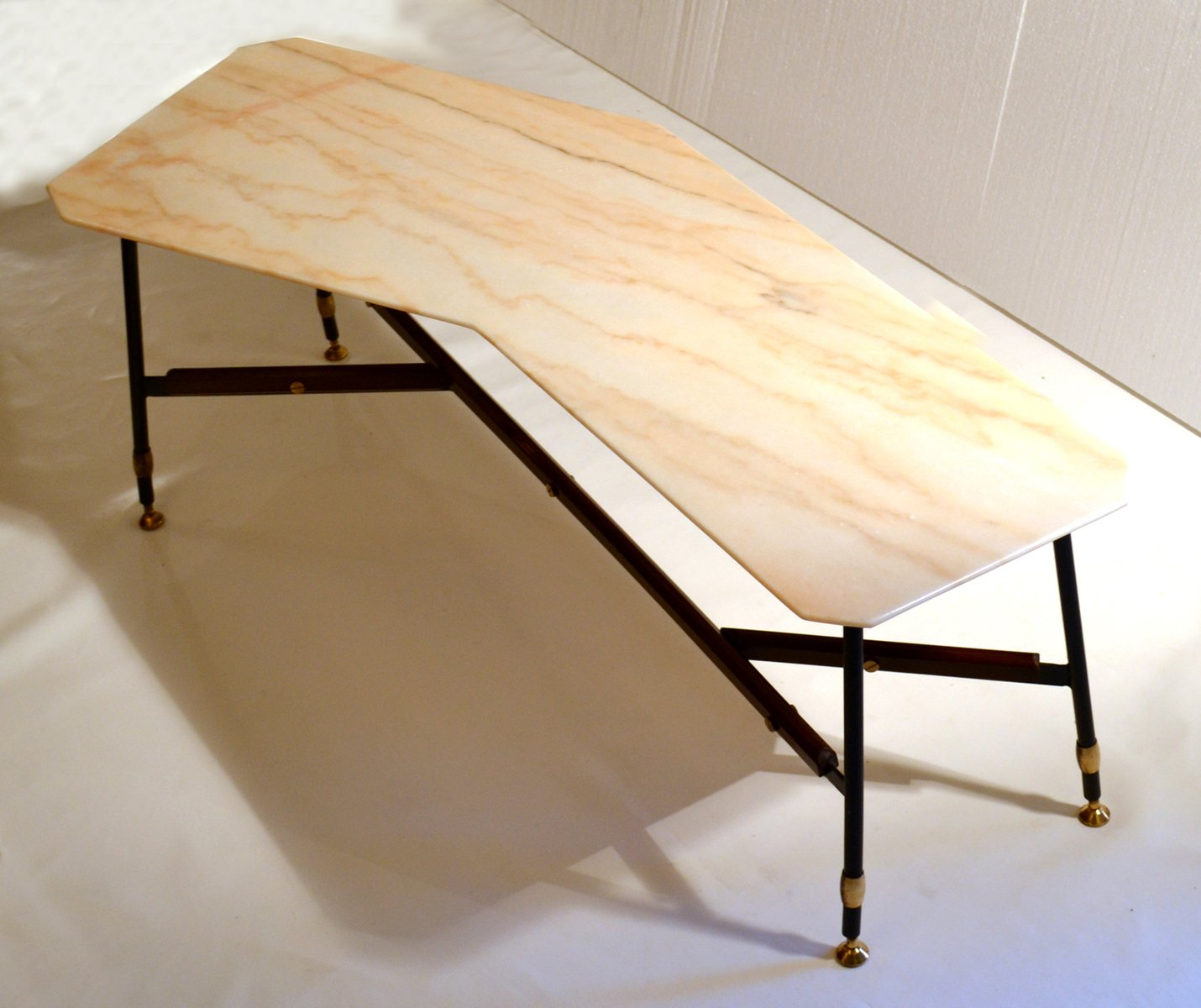 Marble Coffee Table Australia: Italian Free-Formed Marble Top Coffee Table, 1950s For