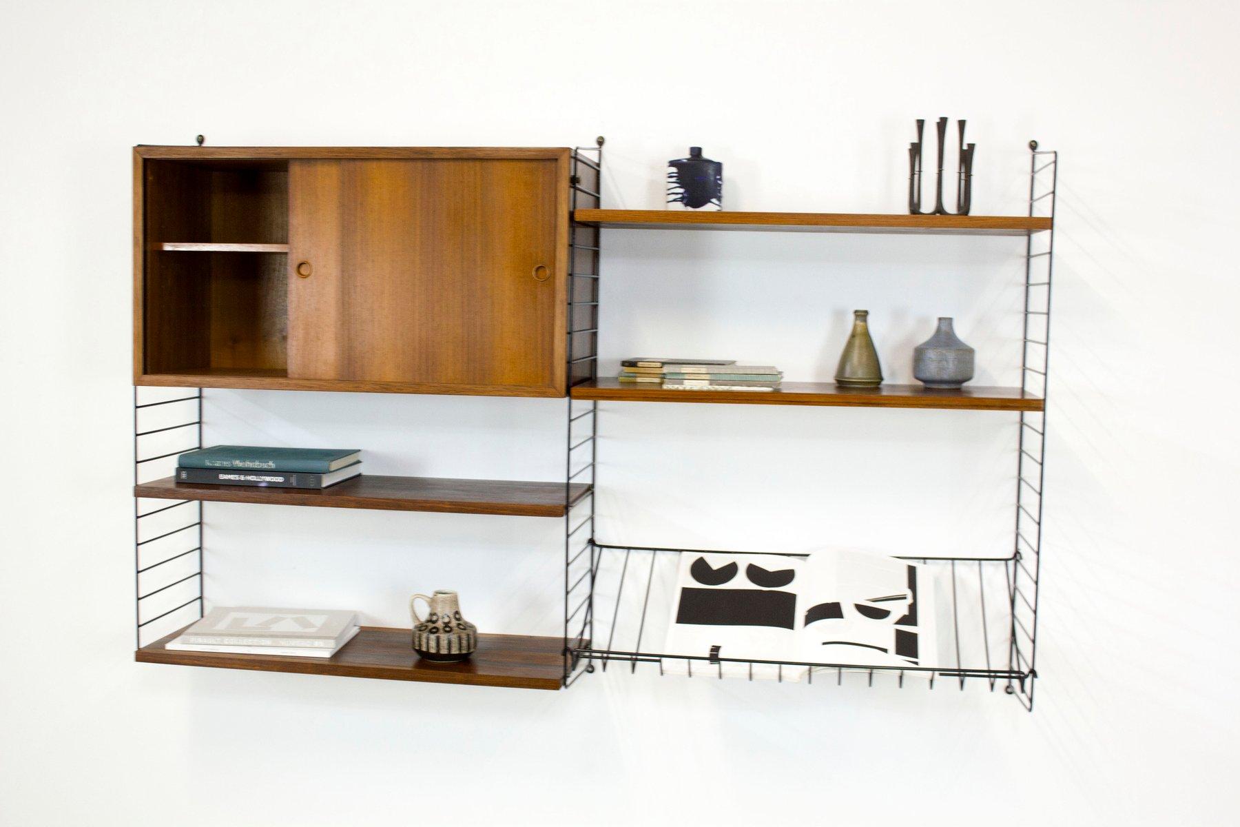 vintage palisander furnier regal system von katja nisse strinning f r string bei pamono kaufen. Black Bedroom Furniture Sets. Home Design Ideas