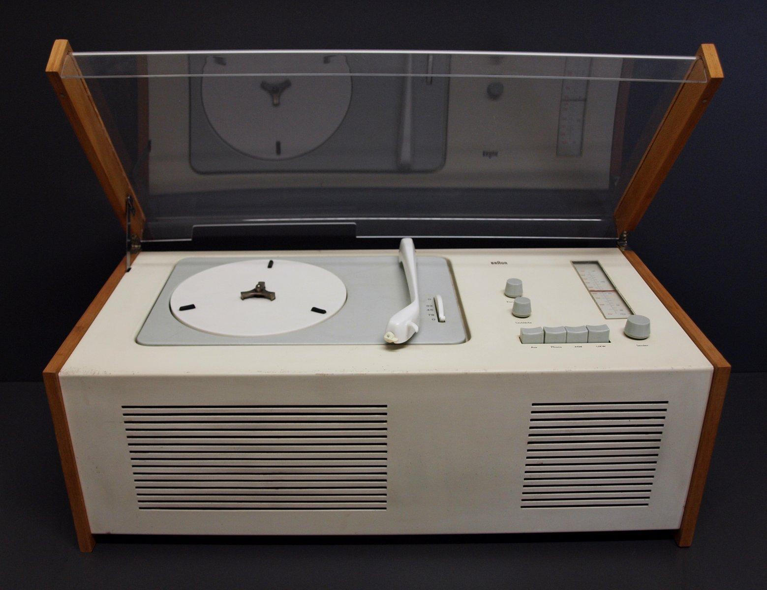 phonosuper sk4 radio mit plattenspieler von dieter rams f r braun ag 1956 bei pamono kaufen. Black Bedroom Furniture Sets. Home Design Ideas