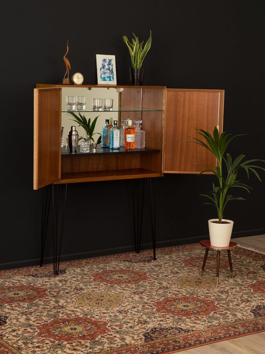 vintage barschrank mit nussholz furnier 1950er bei pamono kaufen. Black Bedroom Furniture Sets. Home Design Ideas