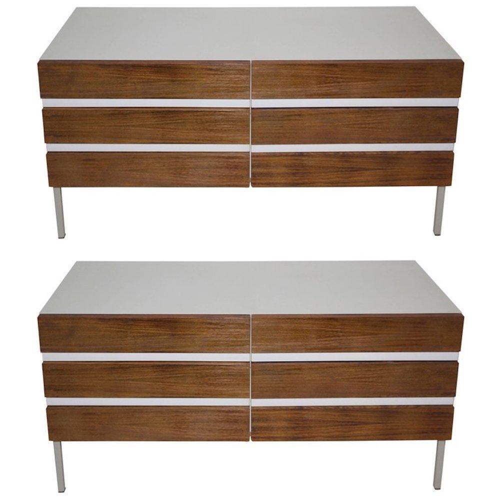 german wooden sideboards from interl bke 1970s set of 2 for sale at pamono. Black Bedroom Furniture Sets. Home Design Ideas