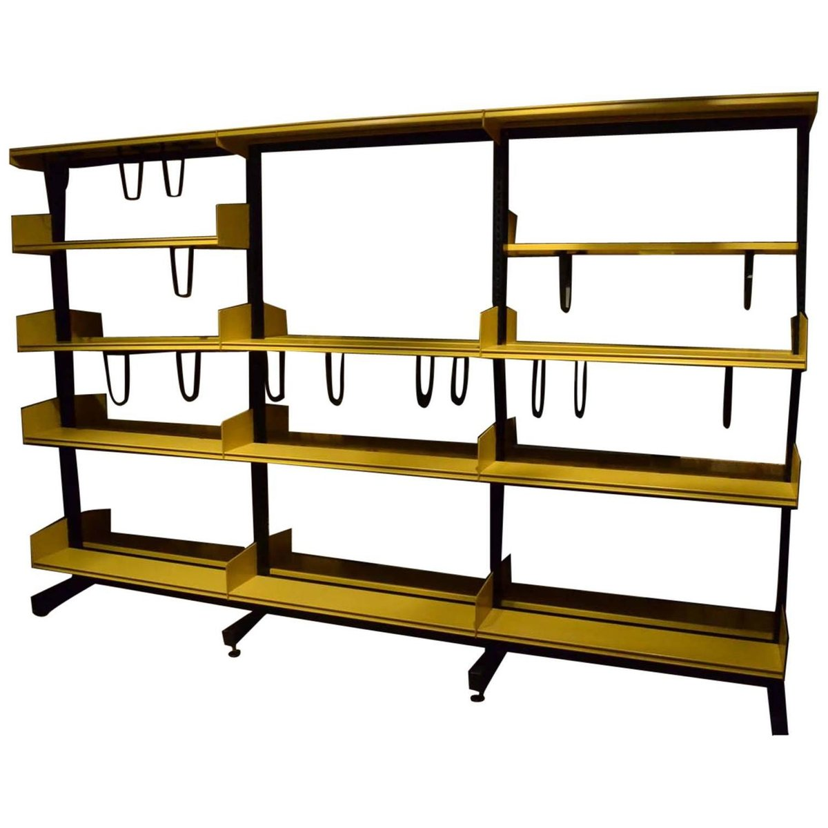 modulares vintage regalsystem in gelb schwarz von. Black Bedroom Furniture Sets. Home Design Ideas