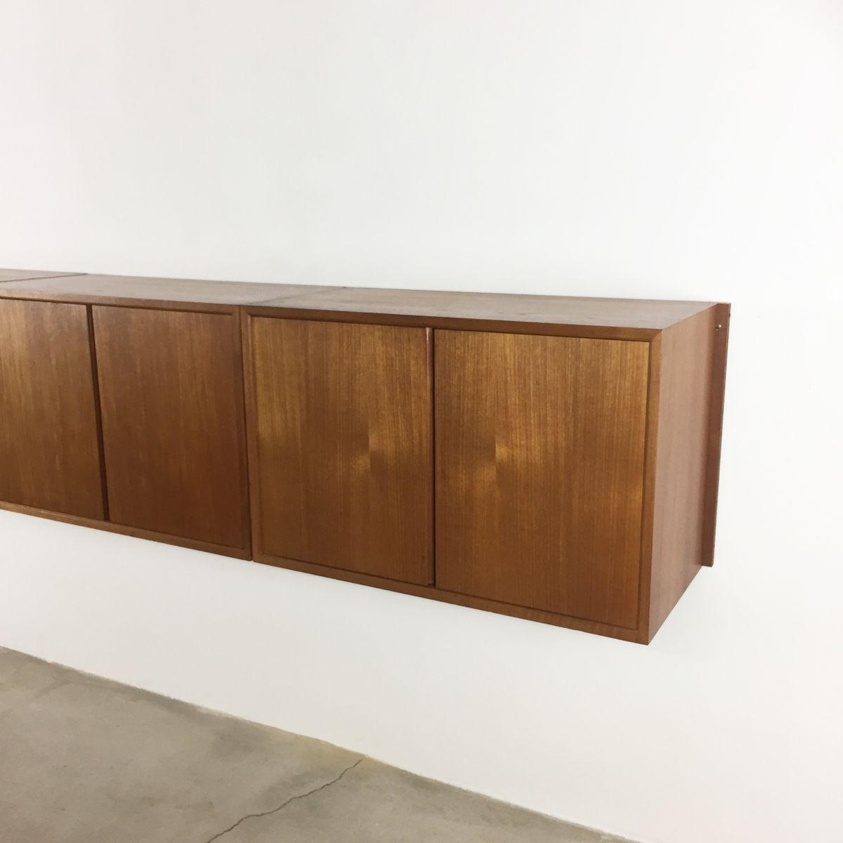 schwebendes royal system sideboard von poul cadovius f r cado 1960er bei pamono kaufen. Black Bedroom Furniture Sets. Home Design Ideas