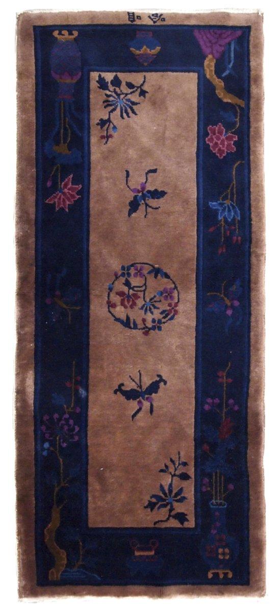 handgearbeiteter chinesischer art deco teppich 1920er bei. Black Bedroom Furniture Sets. Home Design Ideas