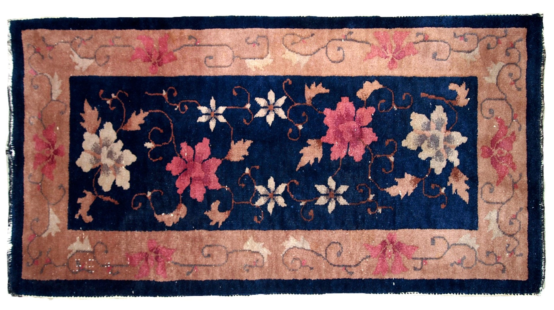 antiker handgearbeiteter chinesischer art deco teppich. Black Bedroom Furniture Sets. Home Design Ideas
