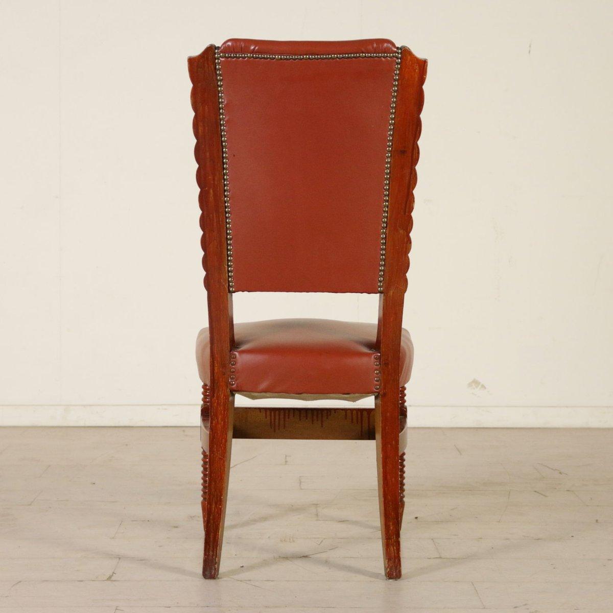 italienische st hle aus gebeiztem buchenholz kunstleder. Black Bedroom Furniture Sets. Home Design Ideas