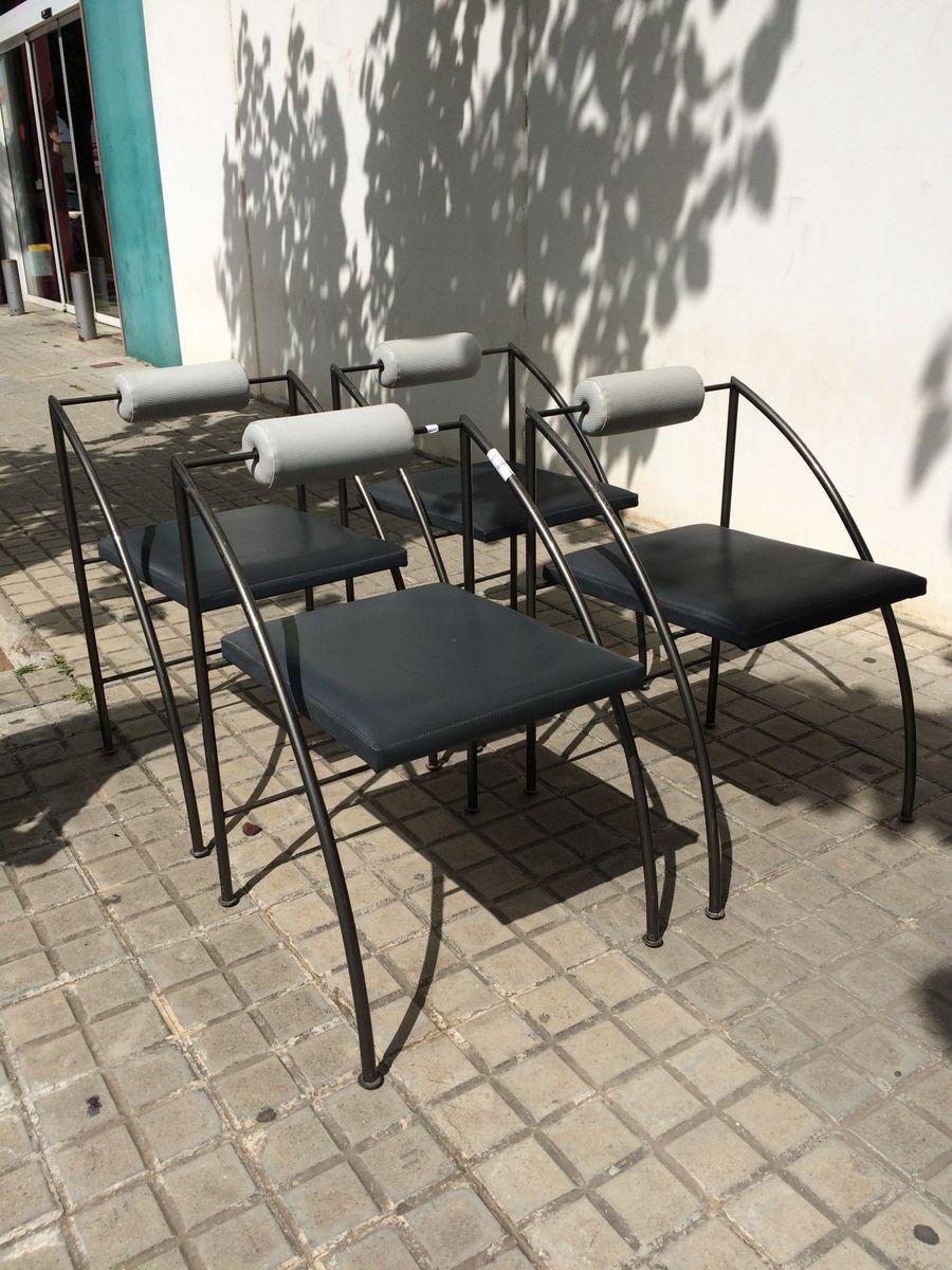 vintage memphis esszimmerst hle 4er set bei pamono kaufen. Black Bedroom Furniture Sets. Home Design Ideas