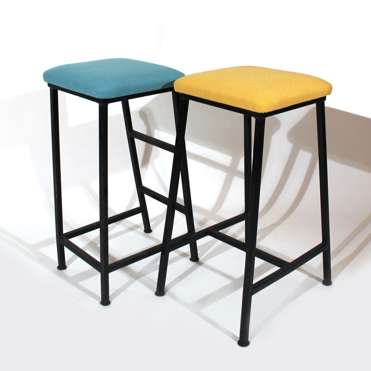 German Vintage Stools 1950s Set Of 2 For Sale At Pamono
