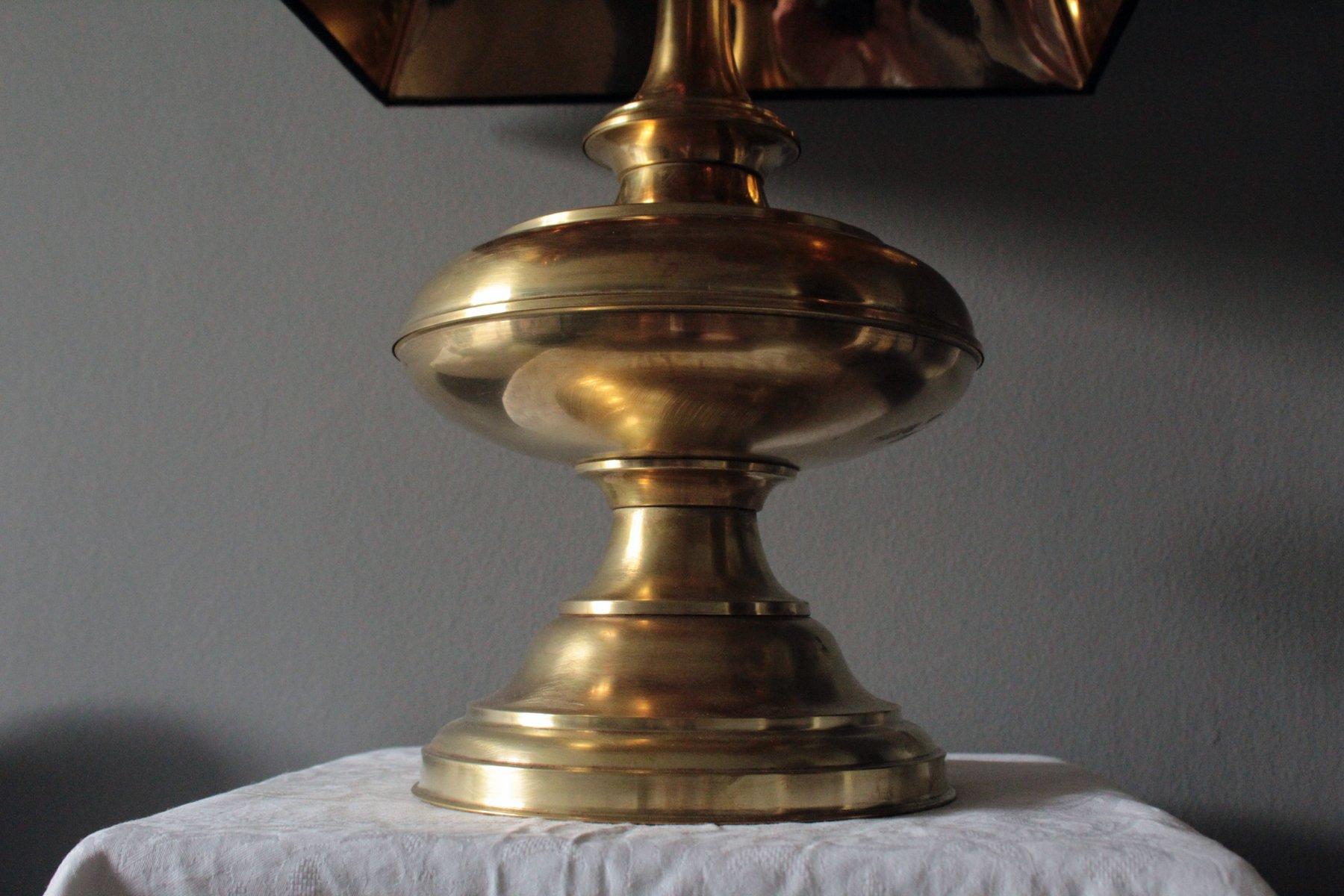 Lampe de bureau des années en laiton et bronze u lot art