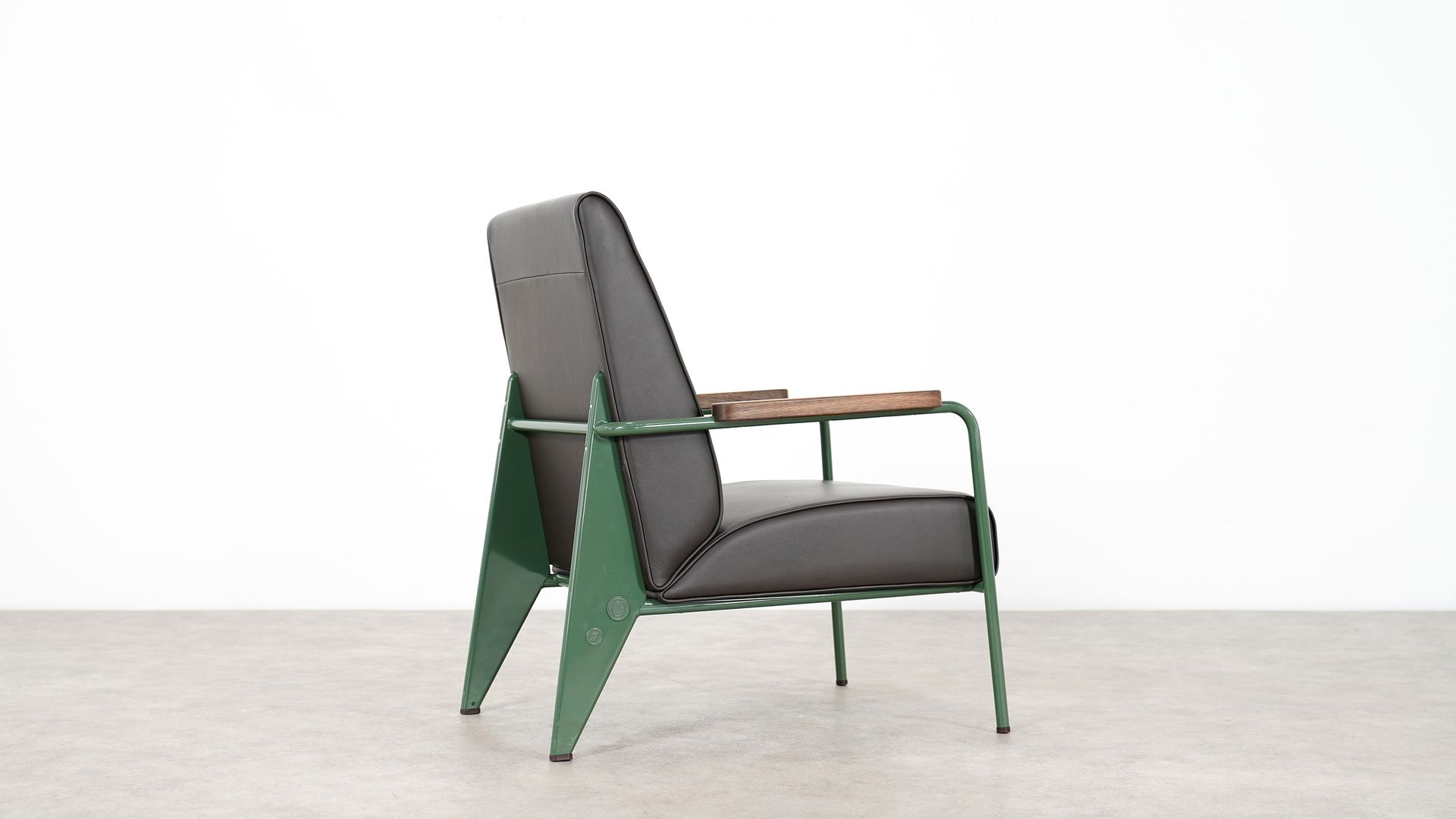 fauteuil de salon chair by jean prouv for vitra 1970s. Black Bedroom Furniture Sets. Home Design Ideas