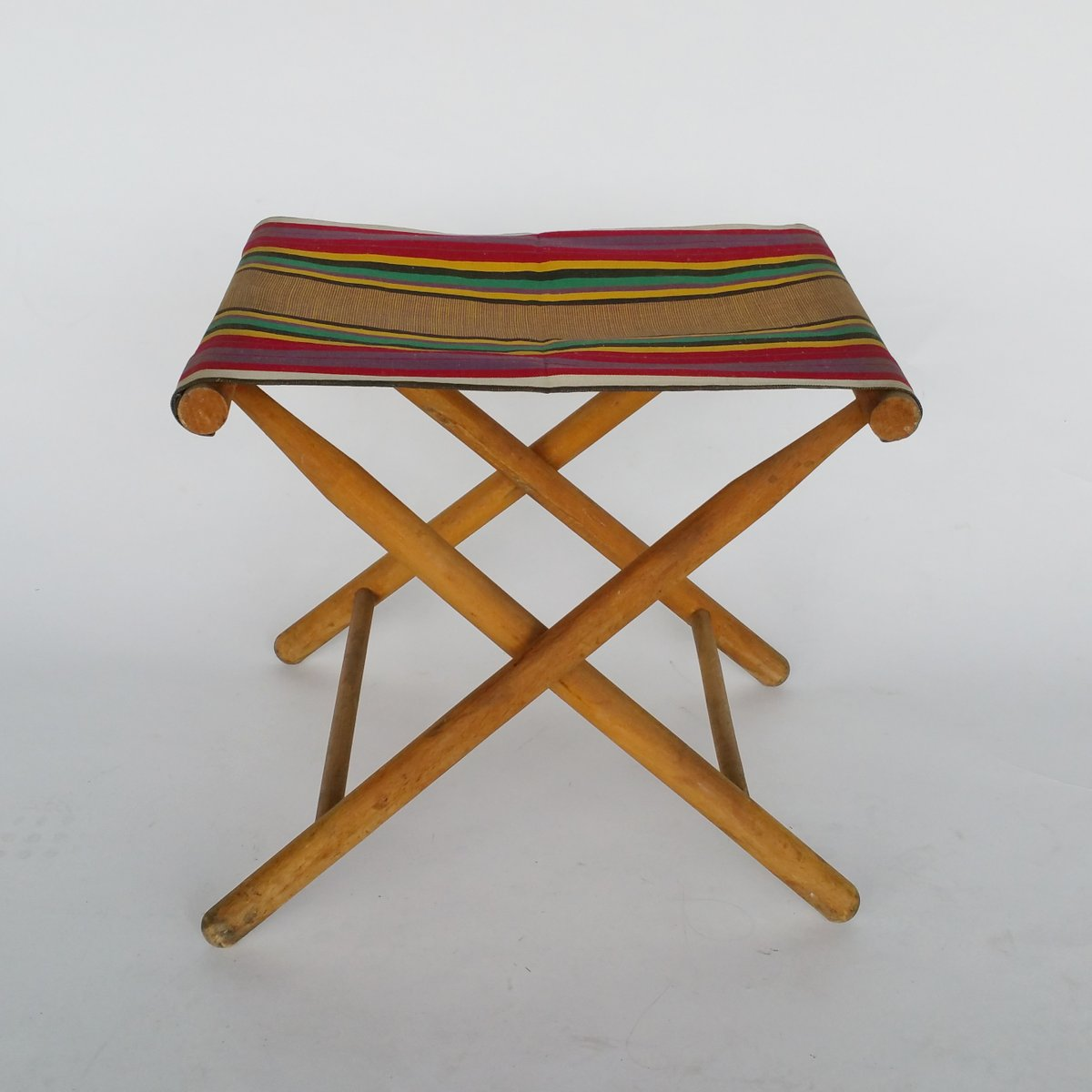 Vintage Folding Camp Stool 1950s For Sale At Pamono
