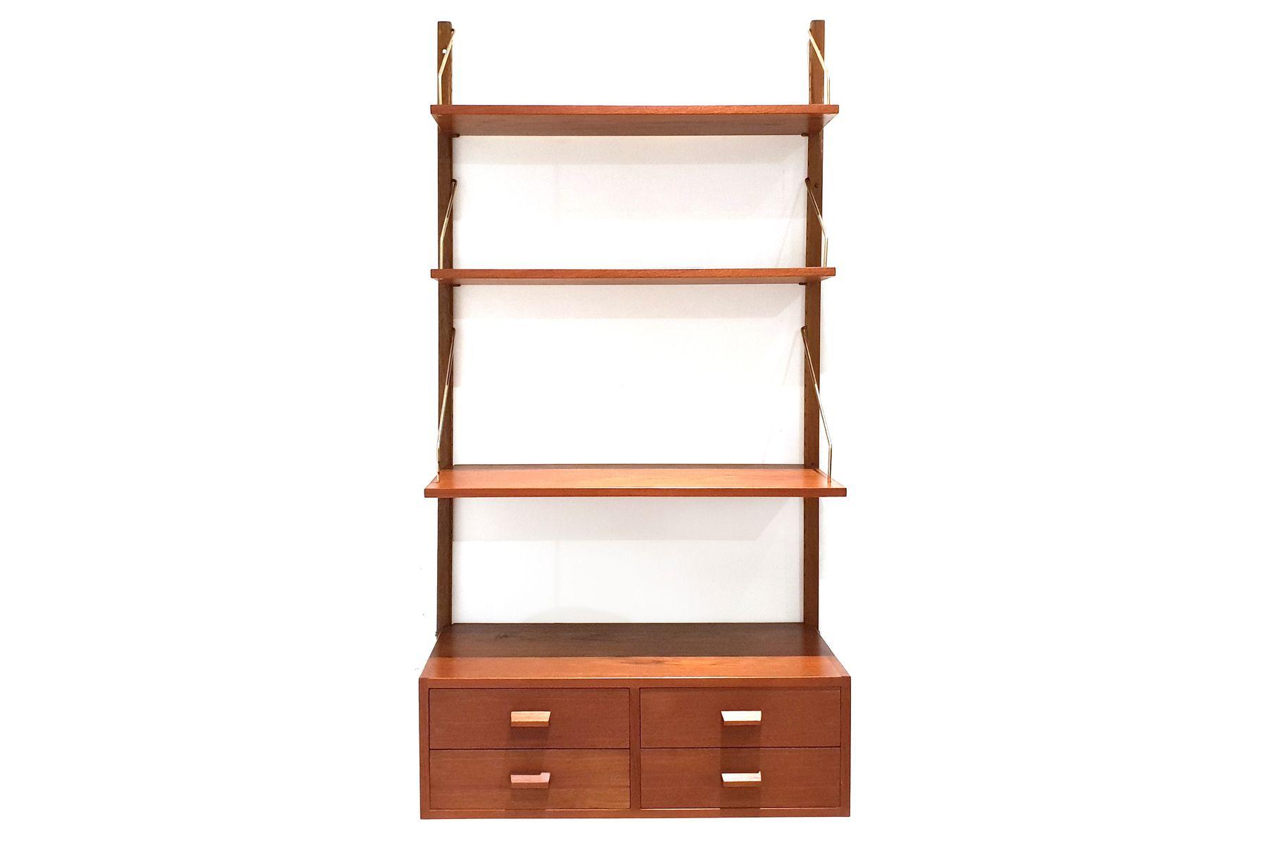 teak regal system 1960er bei pamono kaufen. Black Bedroom Furniture Sets. Home Design Ideas