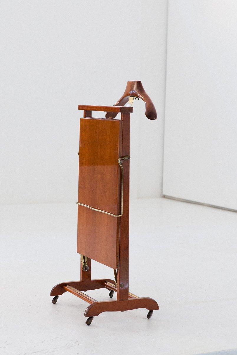 stummer diener aus holz messing von ico luisa parisi f r fratelli reguitti 1950er bei. Black Bedroom Furniture Sets. Home Design Ideas