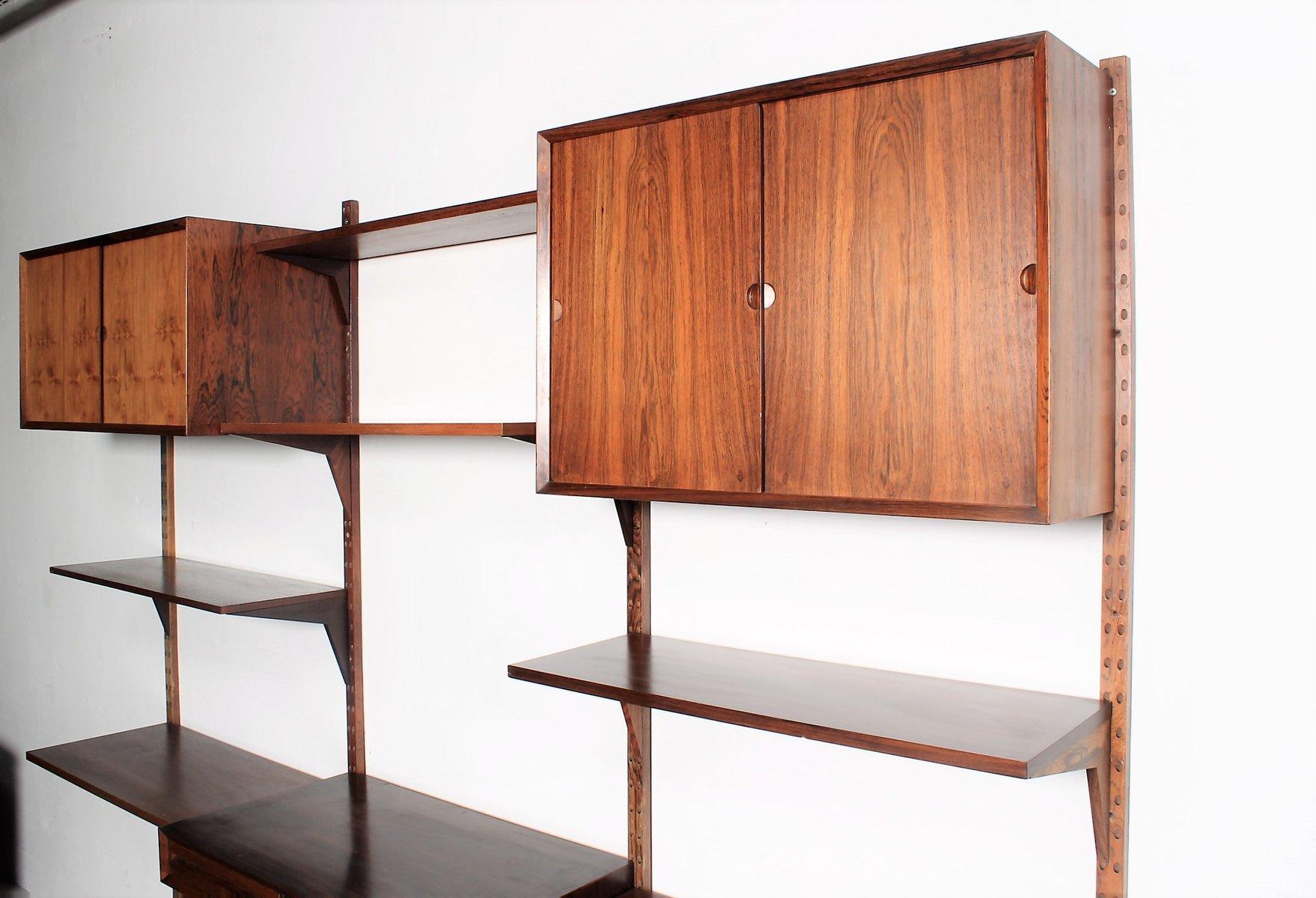 vintage palisander furnier regal system von poul cadovius. Black Bedroom Furniture Sets. Home Design Ideas