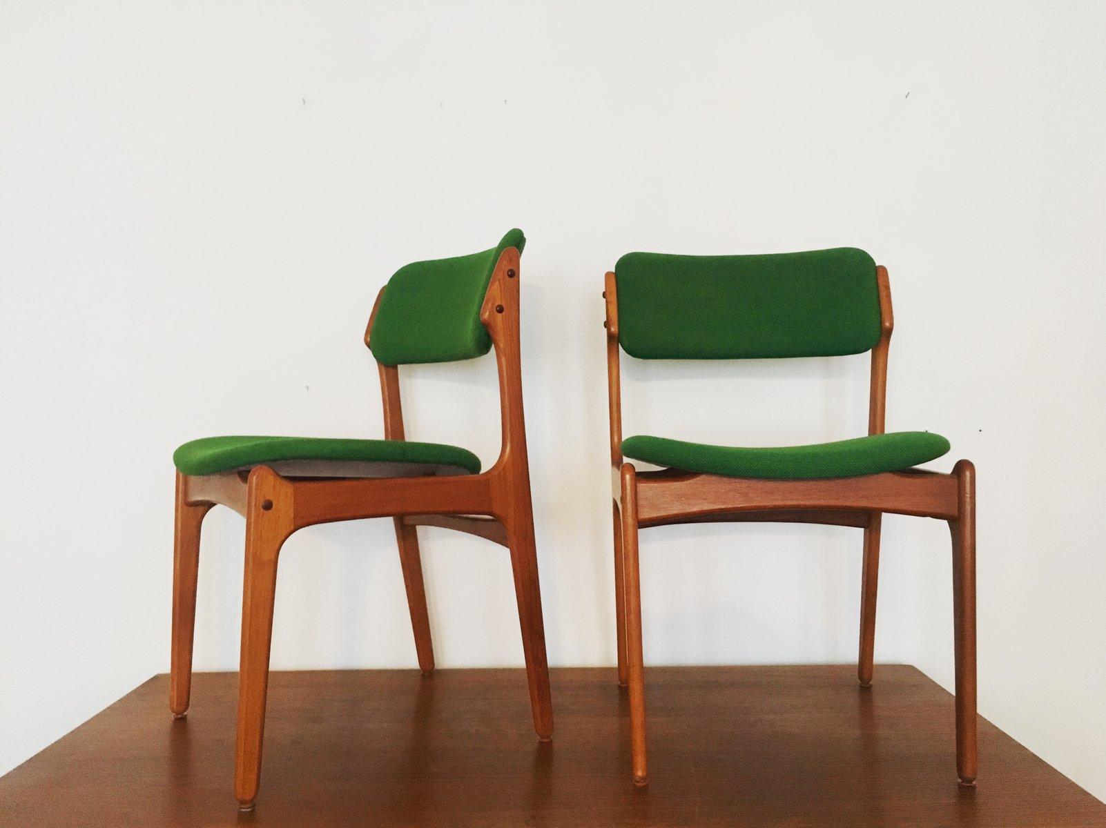 chaises en teck par erik buch pour o d mobler danemark 1960s set de 6 4 Résultat Supérieur 60 Beau Lampe De Bureau Vintage Photos 2018 Lok9