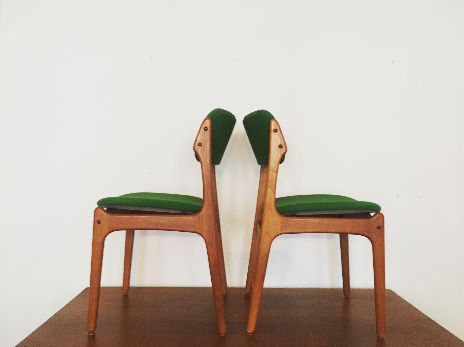 chaises en teck par erik buch pour o d mobler danemark 1960s set de 6 3 Résultat Supérieur 60 Beau Lampe De Bureau Vintage Photos 2018 Lok9