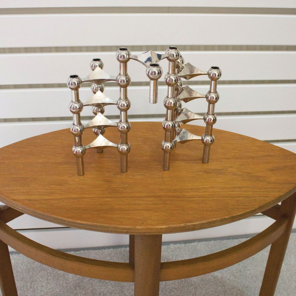 Mid-Century Candlesticks by Fritz Nagel & Ceasar Stoffi for BMF, Set ...