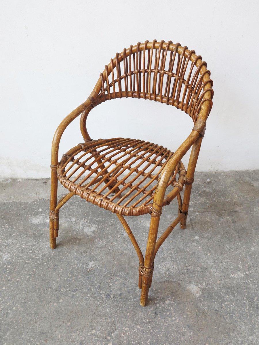 Mid Century Bamboo Chair