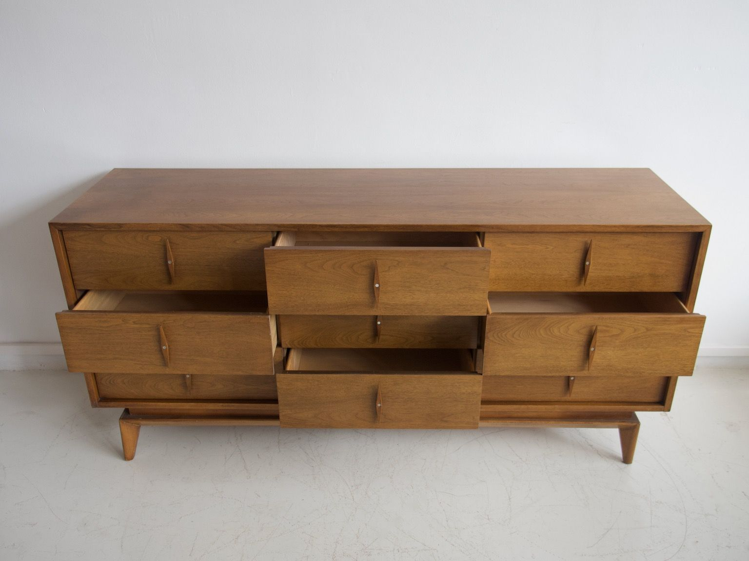 Sideboard With 9 Drawers From American Of Martinsville 1950s