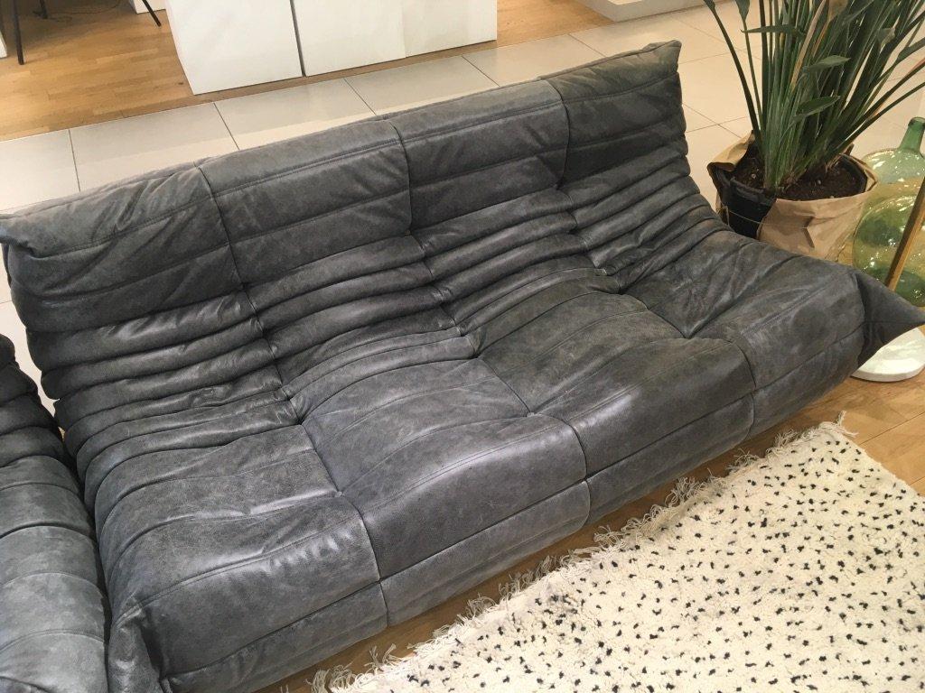 leder togo sofa set von michel ducaroy f r ligne roset 1970er bei pamono kaufen. Black Bedroom Furniture Sets. Home Design Ideas