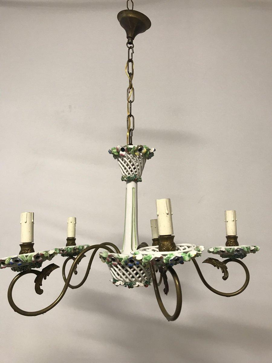 Vintage porcelain chandelier for sale at pamono vintage porcelain chandelier arubaitofo Gallery