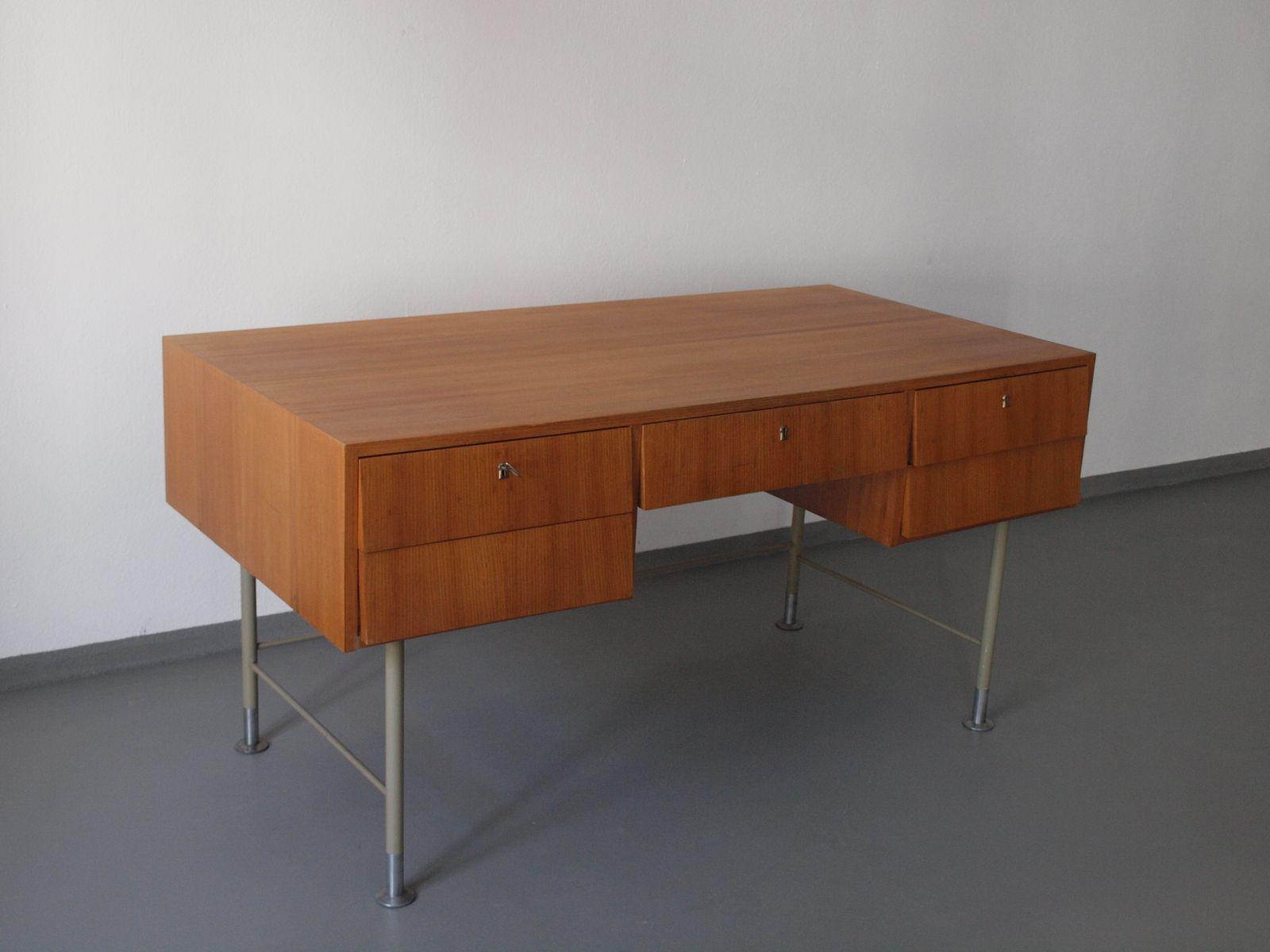 vintage schreibtisch und b cherregal set bei pamono kaufen. Black Bedroom Furniture Sets. Home Design Ideas