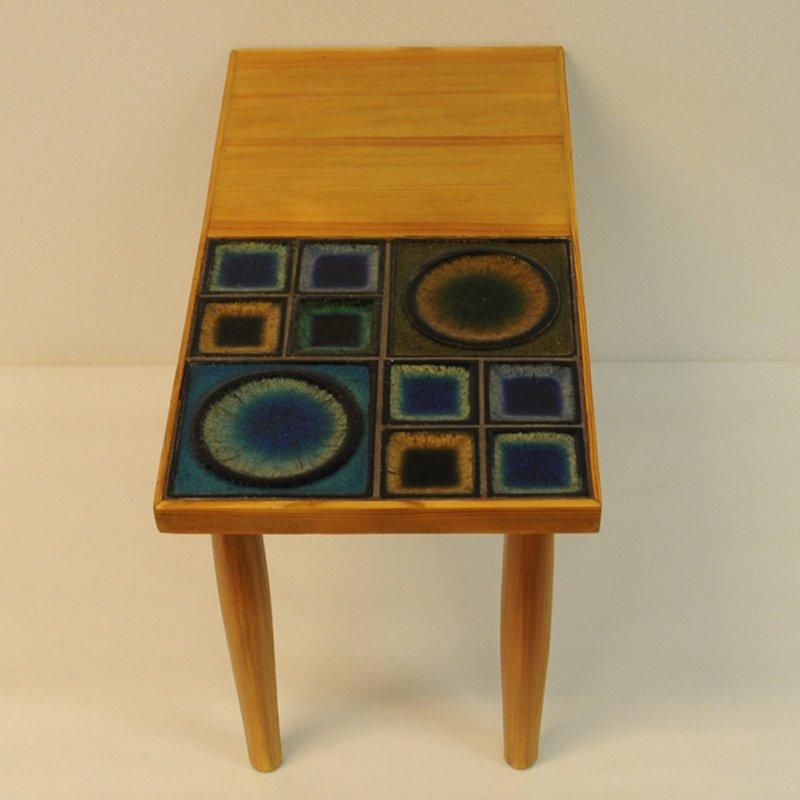 Norwegian Pine Table With Ceramic Tiles By Konrad Galaaen