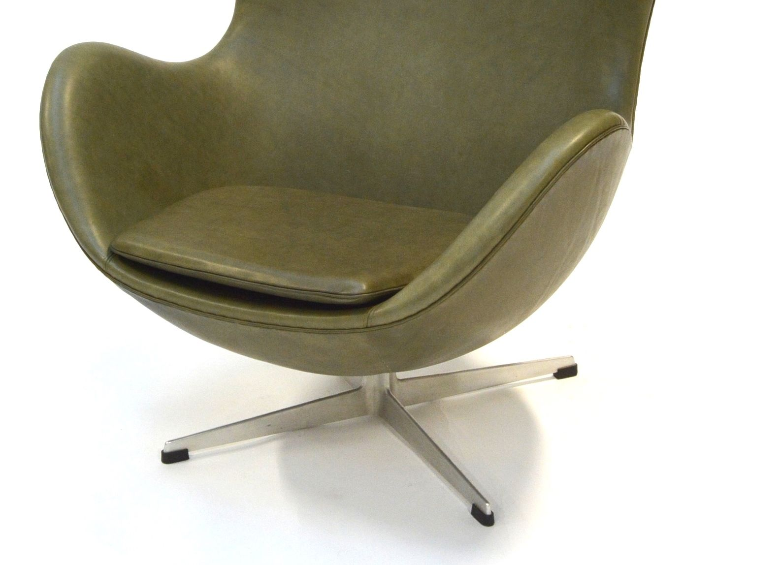 green egg chair by arne jacobsen for fritz hansen 1960s for sale at pamono. Black Bedroom Furniture Sets. Home Design Ideas