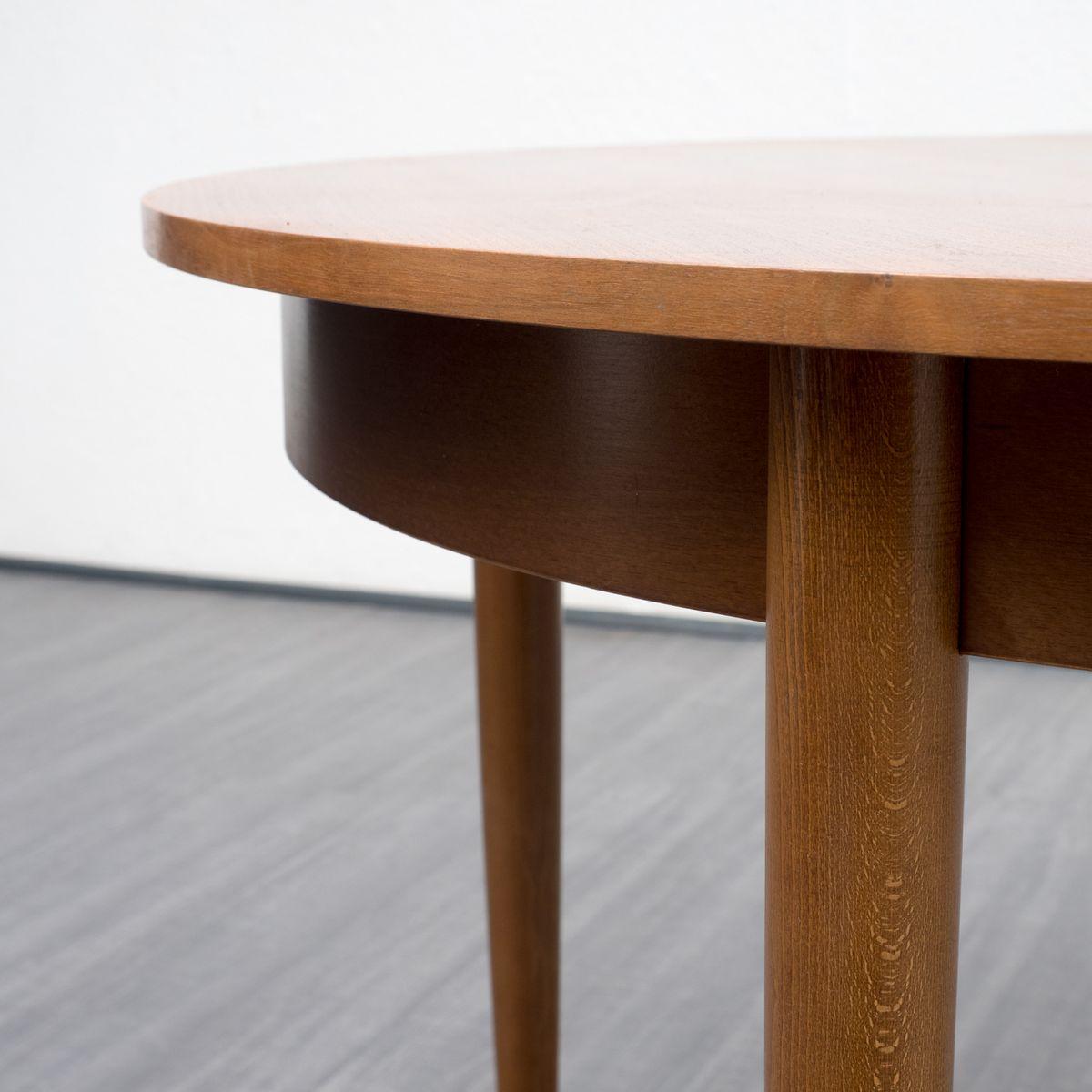 ausziehbarer runder esstisch 1960er bei pamono kaufen. Black Bedroom Furniture Sets. Home Design Ideas