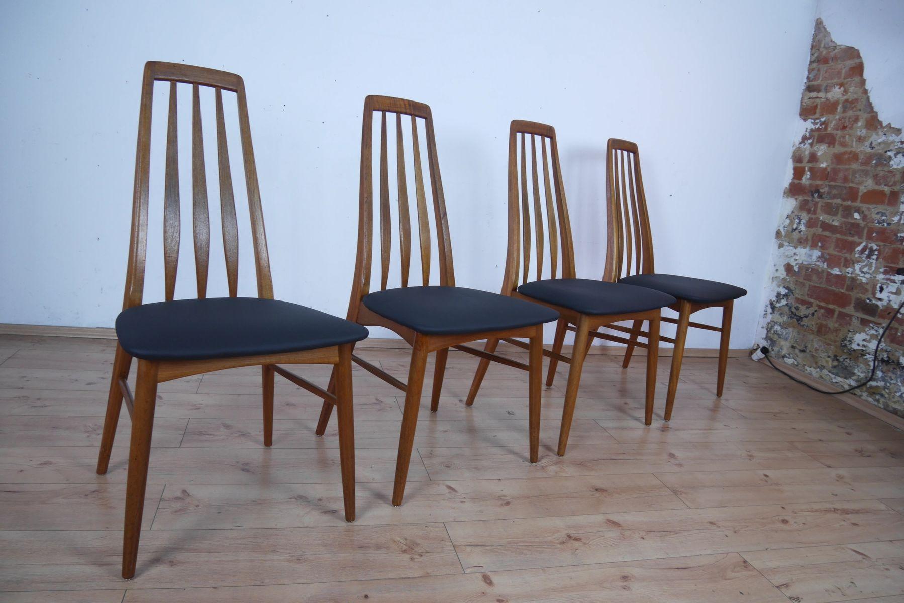 Vintage Eva Esszimmerstühle von Niels Koefoed für Hornslet ...