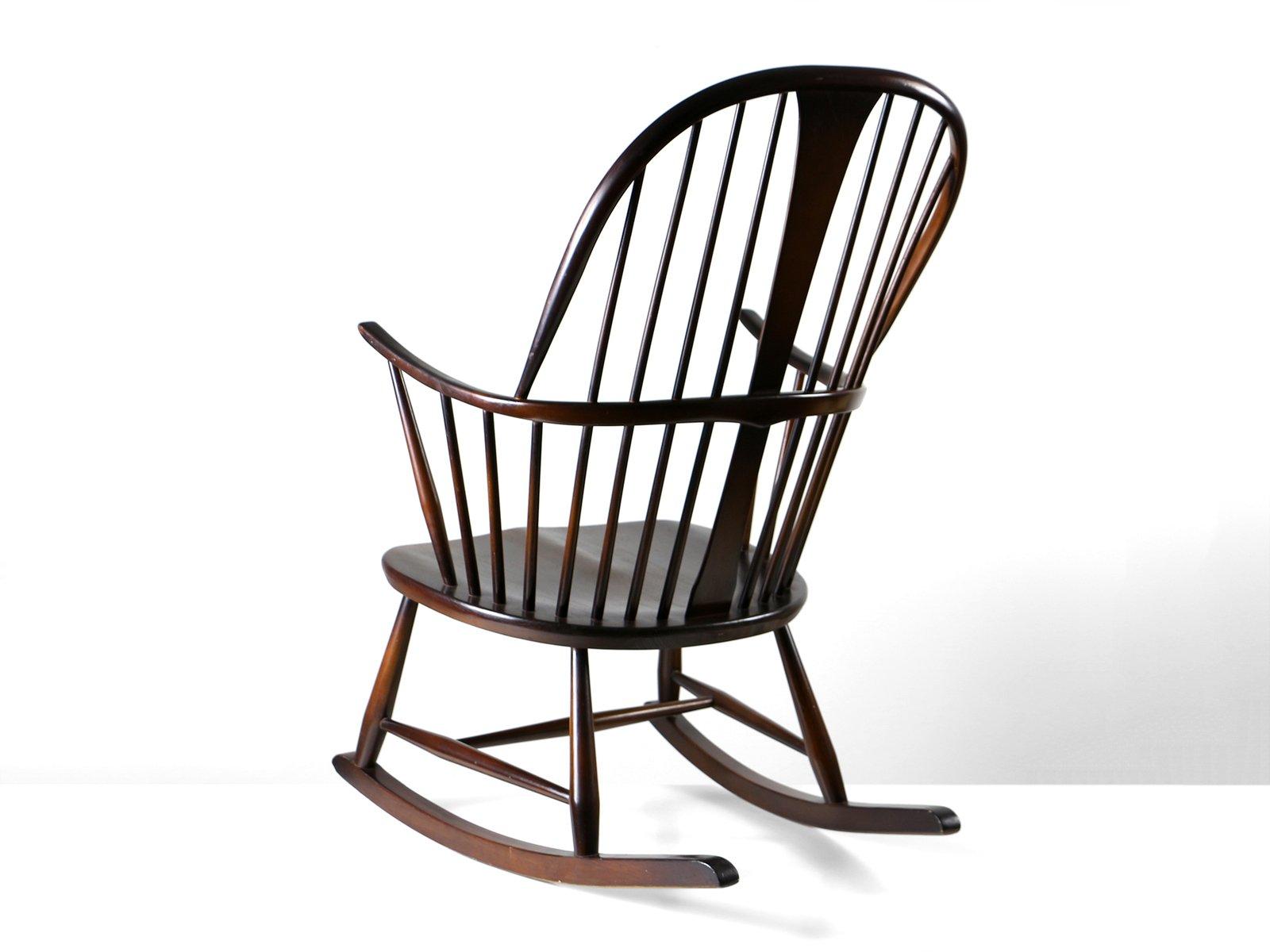 teak benny pin danish rocking mid linden chair century