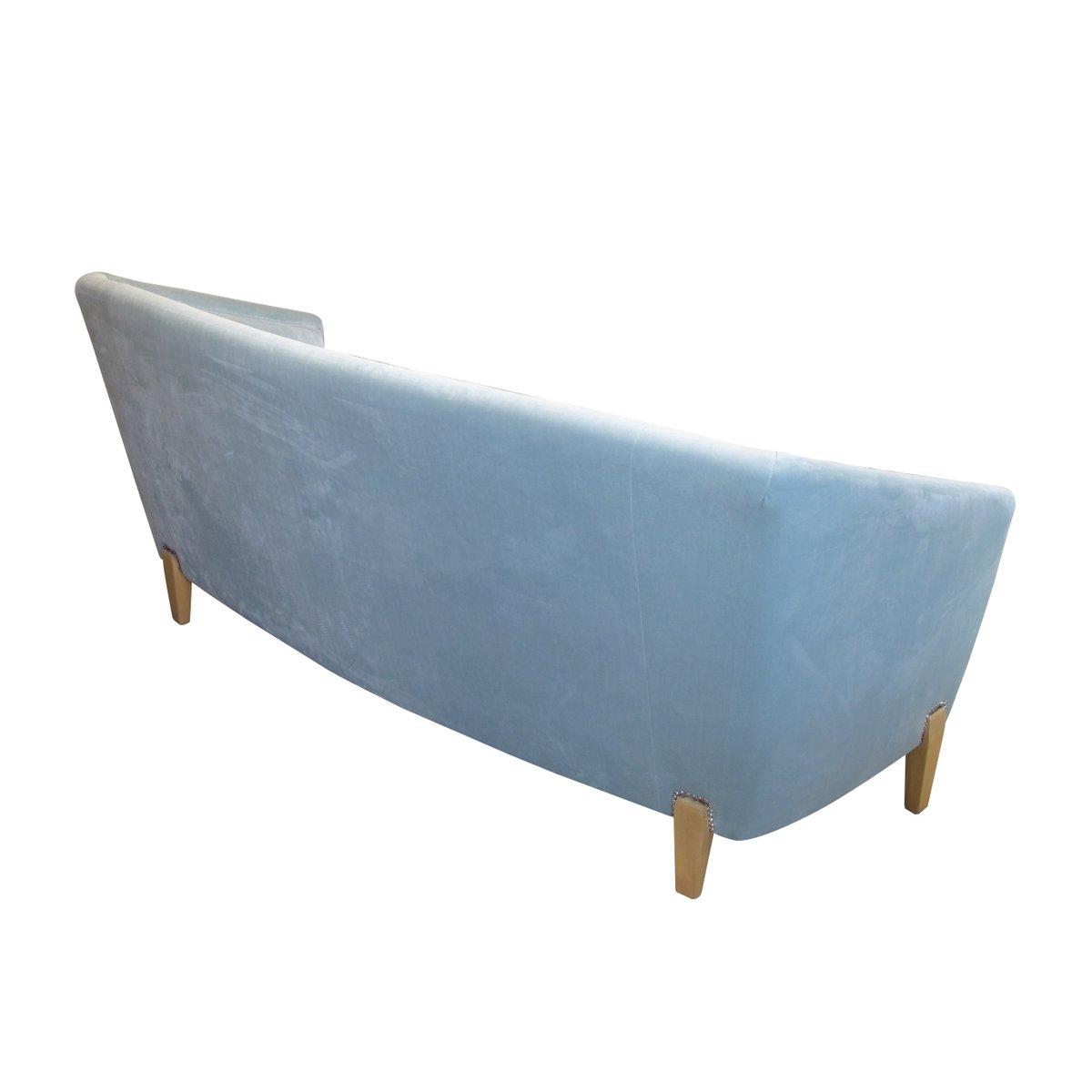 Canapé en Velours Bleu Clair, Suède 1940s en vente sur Pamono