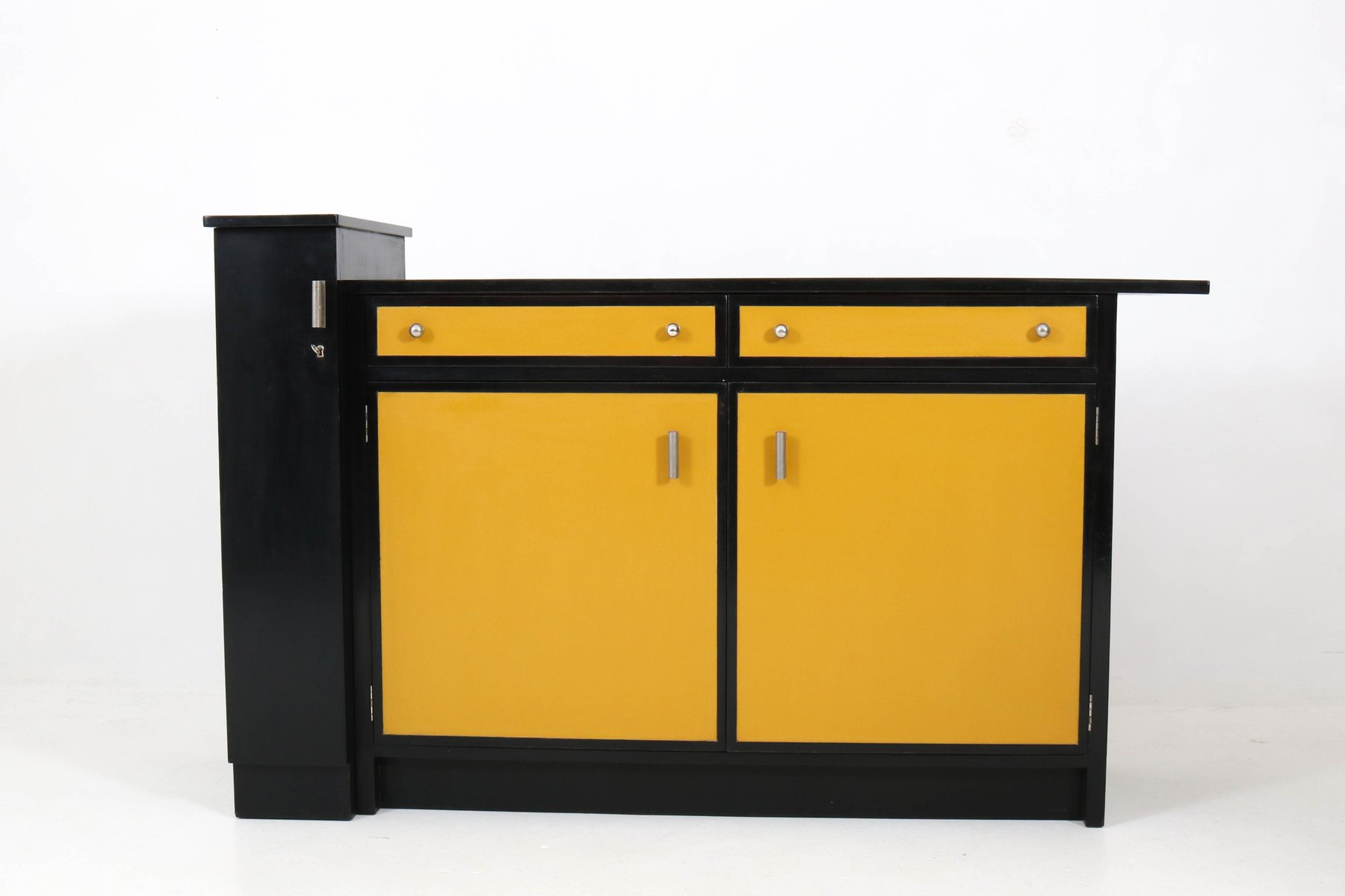 Art Deco Black and Yellow Hague School Credenza by Frits Spanjaard ...