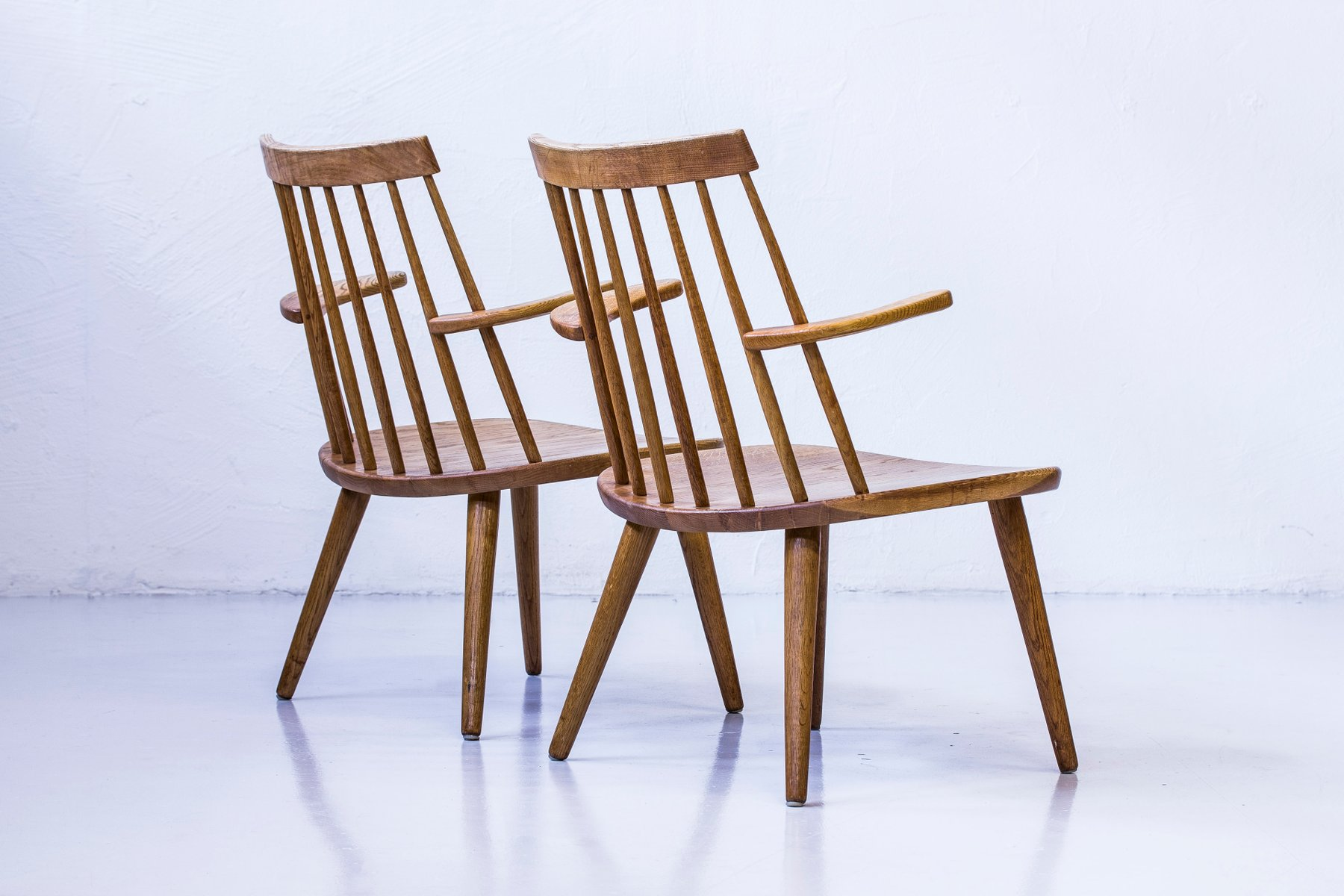 Sibbo Loungette Chairs by Yngve Ekström for Stolab, 1950s, Set of 2 for sale at Pamono