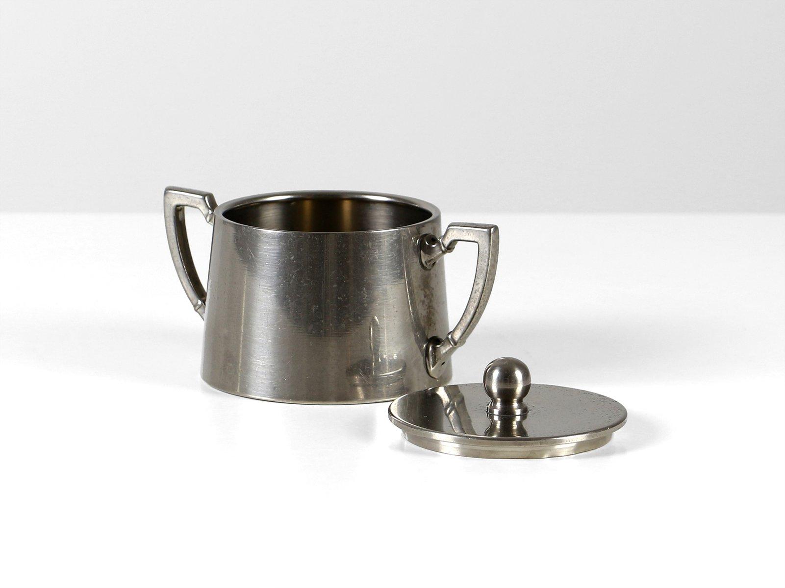 zuckerdose und milchk nnchen bauhaus set von fleitmann und witte 1930er bei pamono kaufen. Black Bedroom Furniture Sets. Home Design Ideas