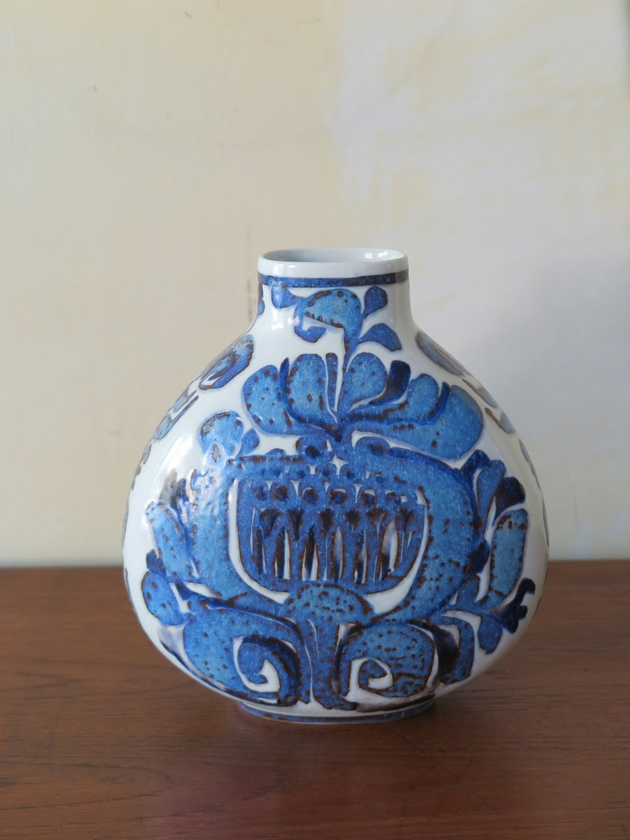 Vintage Danish Ceramic Vase From Royal Copenhagen 1960s