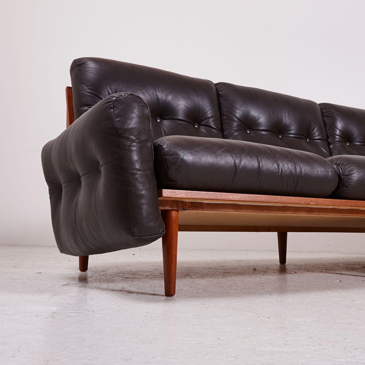 D nisches 3 sitzer ledersofa mit marmor beistelltisch for Marmor beistelltisch